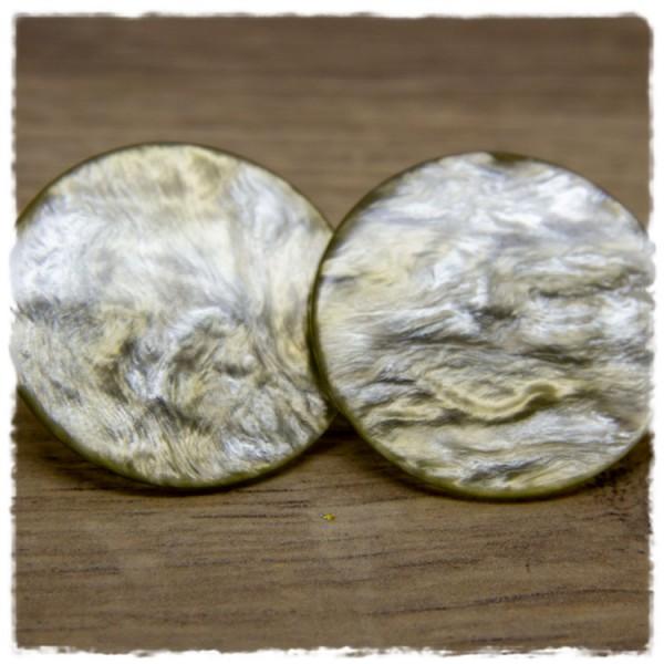 1 Paar Ohrstecker in 35 mm metallic beige