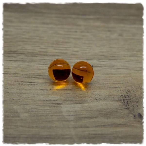 1 Paar Ohrstecker in 10 mm in orange
