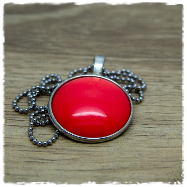 Kette 25mm einfarbig rot