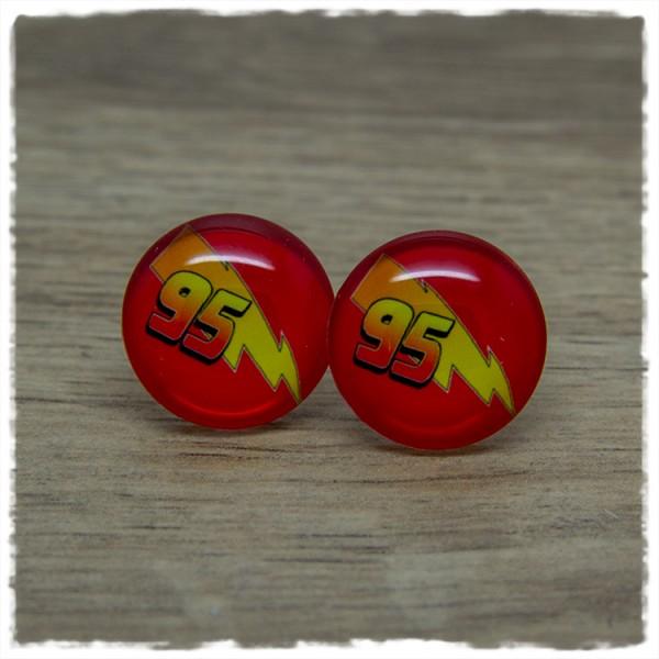 1 Paar Ohrstecker in 20 mm mit Blitz und 95