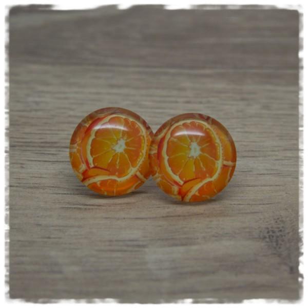 1 Paar Ohrstecker mit Orangen