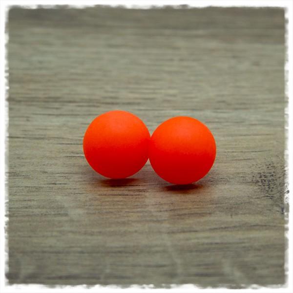 1 Paar Ohrstecker in 16 mm matt orange