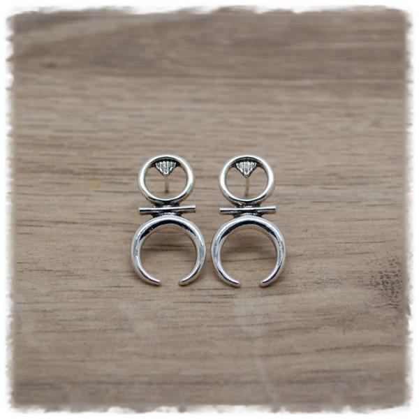 1 Paar Ohrhänger in 14mm Boho silber