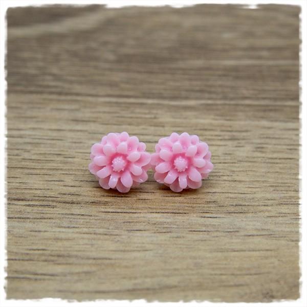 1 Paar Ohrstecker in 12 mm Blüte rosa