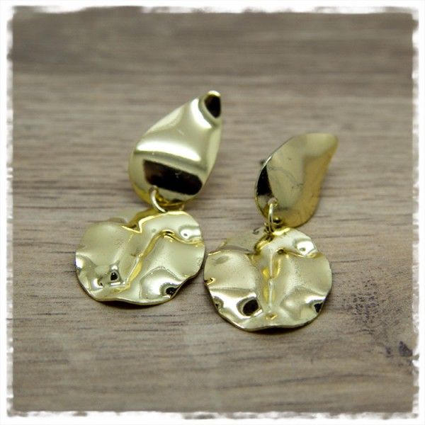 1 Paar Ohrhänger in 50 mm in gold