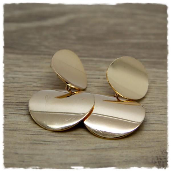 1 Paar Ohrhänger in 25 mm golden