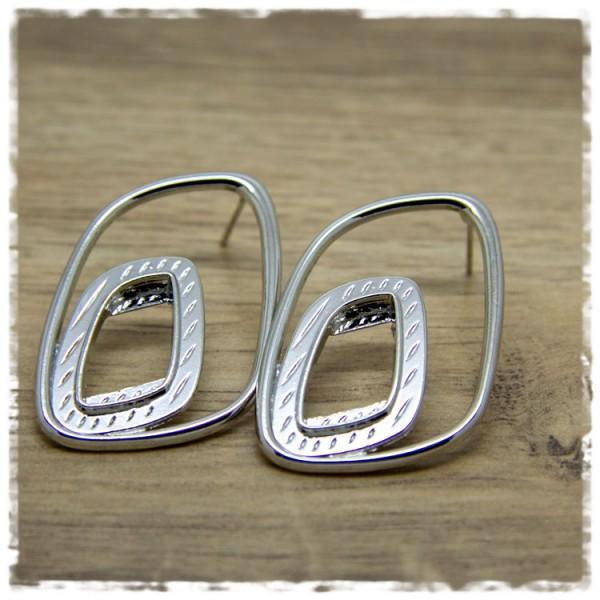 1 Paar Ohrhänger in 45 mm in silbern