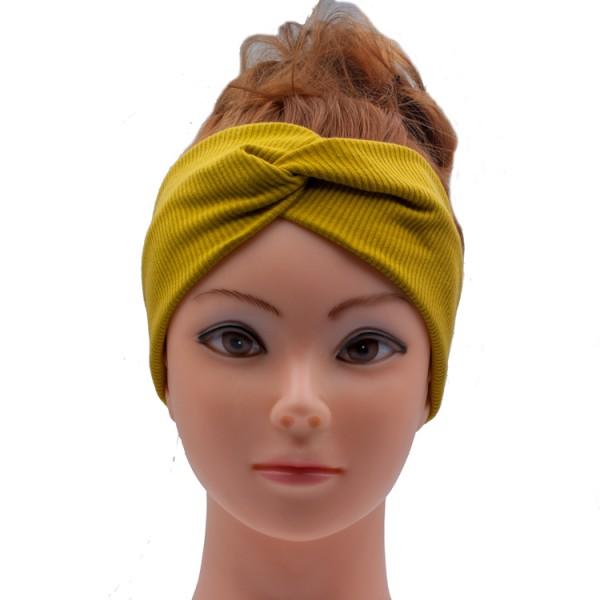 Stirnband senfgelb