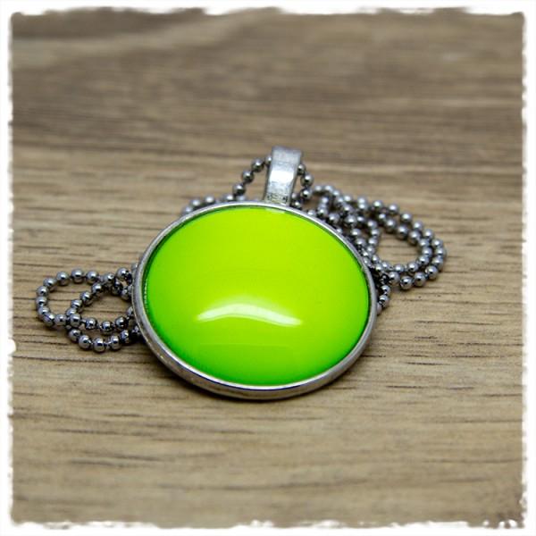 Kette 25mm einfarbig grüngelb