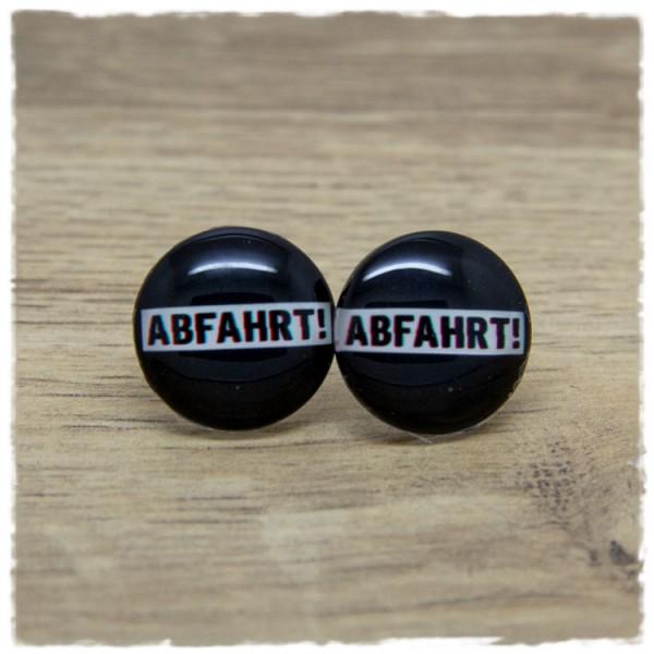 1 Paar Ohrstecker mit ABFAHRT