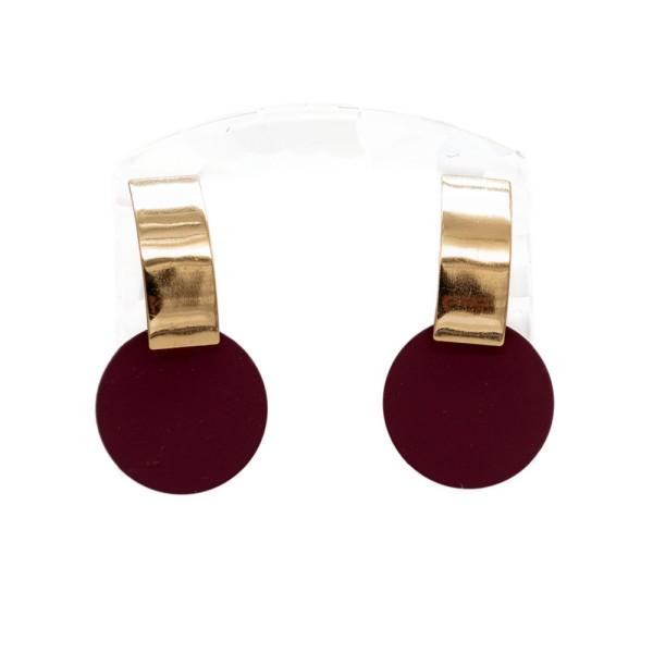1 Paar Ohrstecker in 25 mm mit blauer Blüte auf weißem Hintergrund (wahlweise als Ohrclips)
