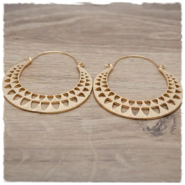 1 Paar Ohrhänger in 50 mm rund gold