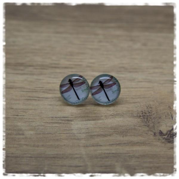 1 Paar Ohrstecker in 12 mm mit Libelle