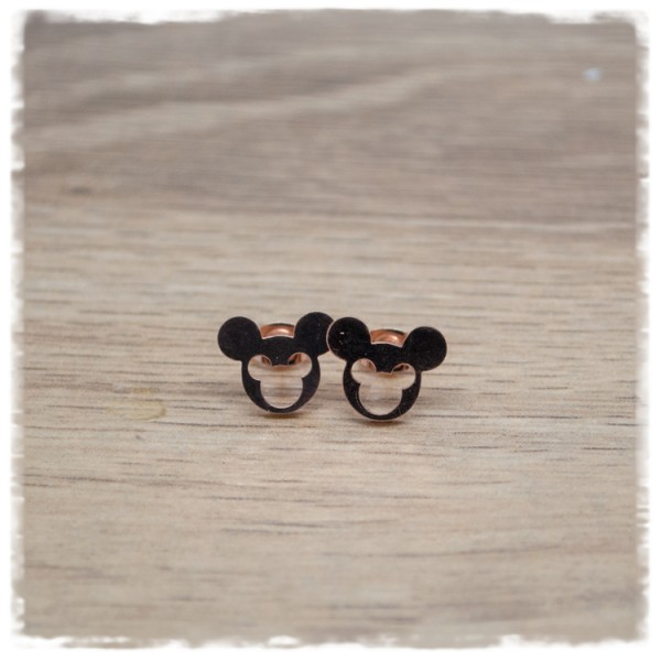1 Paar Ohrstecker in 12 mm Mickey Mouse rosegold