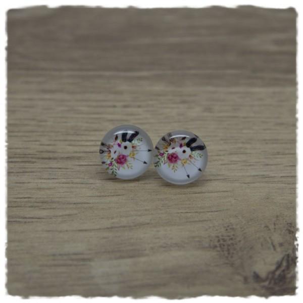 1 Paar Ohrstecker in 12 mm mit Blumenstrauß