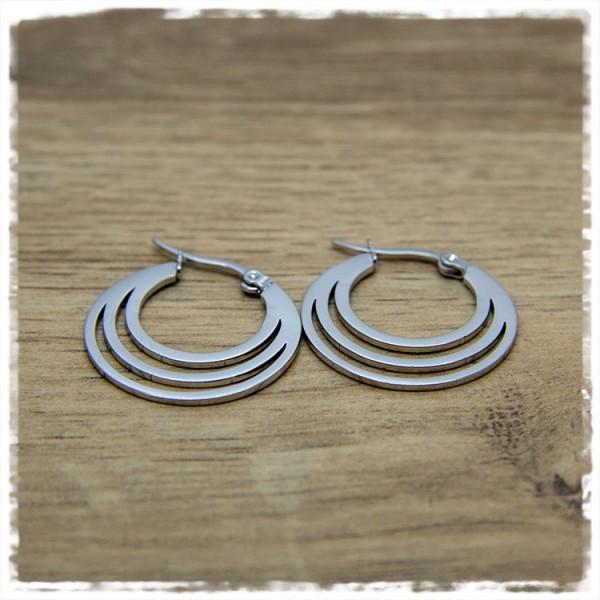 1 Paar Ohrhänger in 25 mm in silbern rund