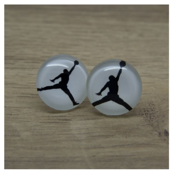 1 Paar Ohrstecker in 20 mm mit Basketballer