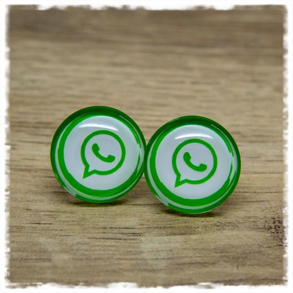 1 Paar Ohrstecker in 20 mm WhatsApp