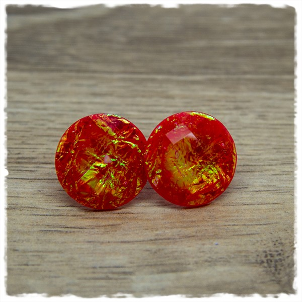 1 Paar Ohrstecker in 20 mm Mermaid rot
