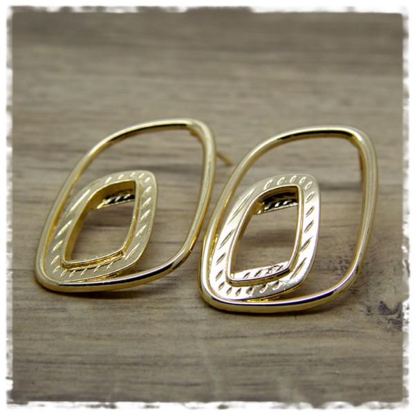 1 Paar Ohrhänger in 45 mm in golden
