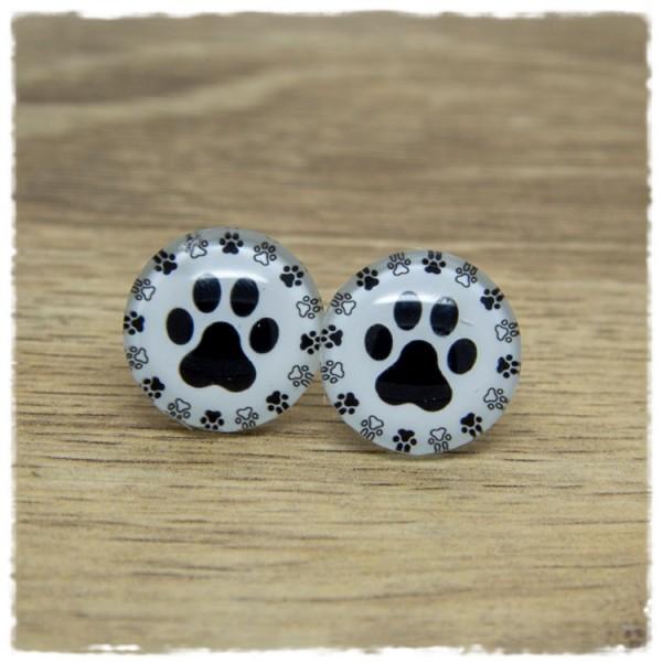 1 Paar Ohrstecker mit Hundepfoten