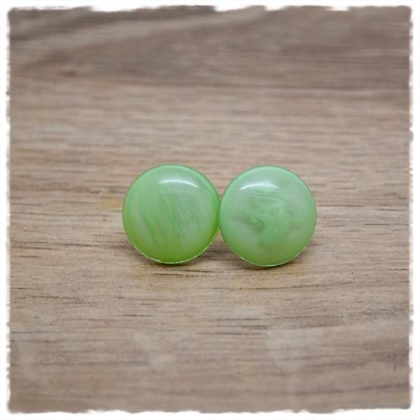 1 Paar Ohrstecker in 16 mm light green