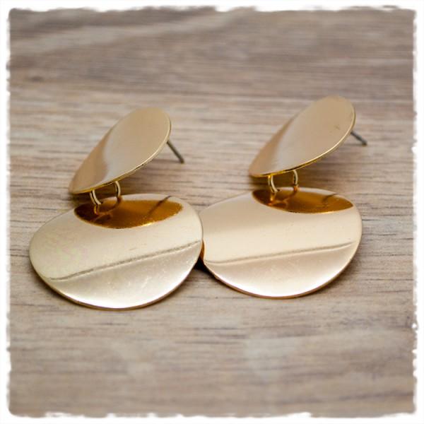 1 Paar Ohrhänger rund in 30mm gold