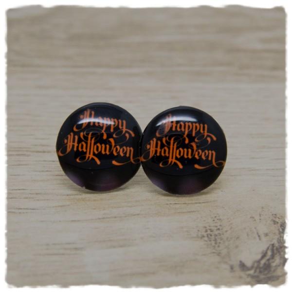 1 Paar Ohrstecker in 20 mm Happy Halloween