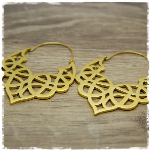 1 Paar Ohrhänger in 45 mm golden gemustert