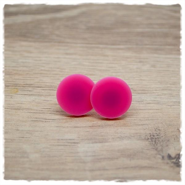 1 Paar flache Ohrstecker in 16 mm light pink