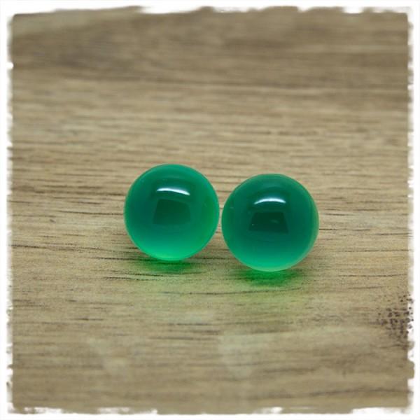 1 Paar Ohrstecker in 16 mm einfarbig grün