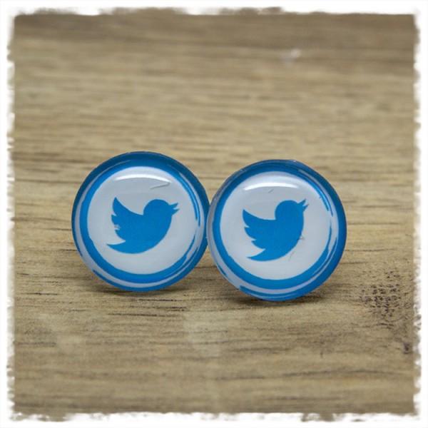 1 Paar Ohrstecker in 20 mm Twitter