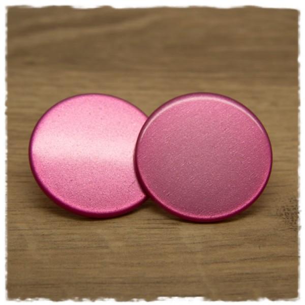 1 Paar flache Ohrstecker in 35 mm einfarbig pink