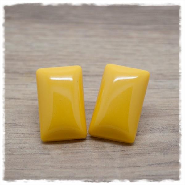1 Paar Ohrstecker rechteckig in 25 mm einfarbig gelb
