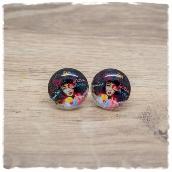 1 Paar Ohrstecker 18 mm mit Mädchen