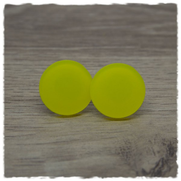 1 Paar Ohrstecker in 20 mm gelb matt