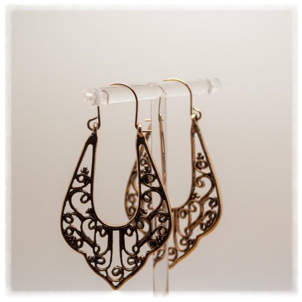 1 Paar Ohrhänger in 50 mm Zapfen antik-gold