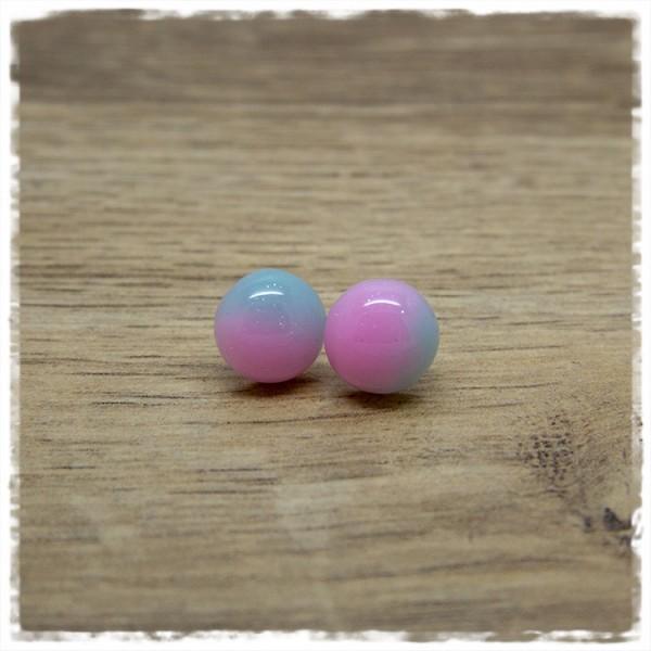 1 Paar Ohrstecker in 12 mm in Batik rosa