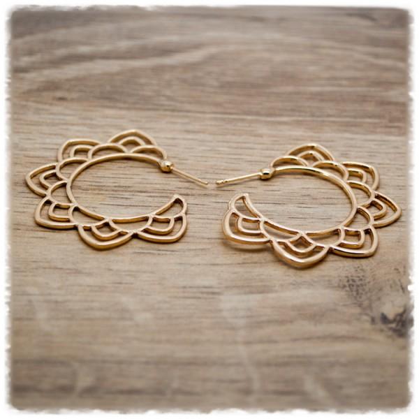 1 Paar Ohrhänger in 45 mm Boho gold