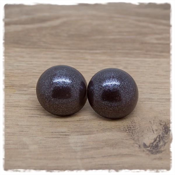 1 Paar Ohrstecker in 25 mm einfarbig anthrazit